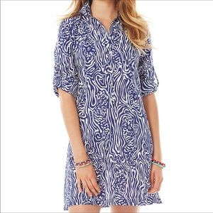 Lilly Pulitzer Beach Cover up/Button Down Dress- S